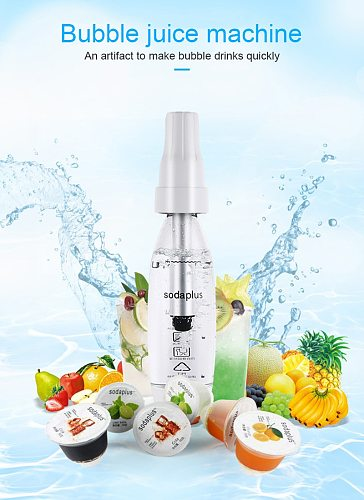 New Portable Sodas Siphon Water Machine Home Self-cooling Drinking Machine Bar Tool Siphon Manual Bubble Drink Soda Maker