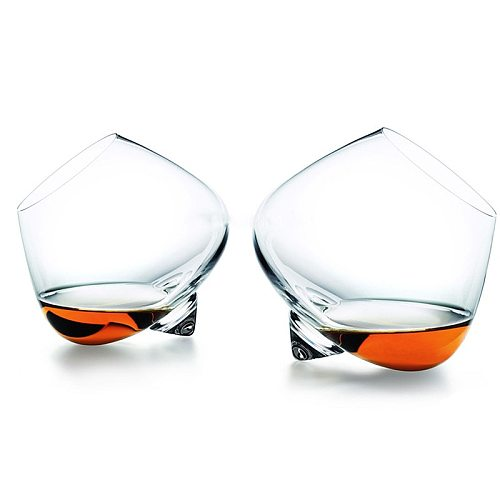 Whiskey Glass Rotate Top Belly Cigar Whiskey Cocktail Drinking Wine Cup Tumbler Bottom Bar Glasses Wine Glass  Eco-Friendly