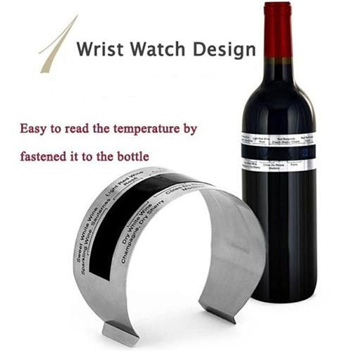 Wine Collar Thermometer Bar Beverage Tool Clever Bottle Snap Thermometer LCD Display clip Sensor for Champagne beer red wine