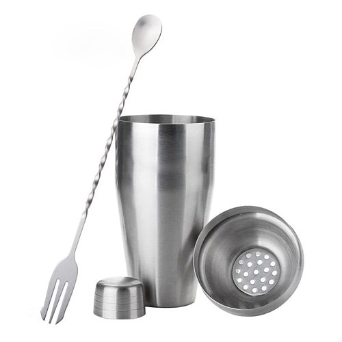 1pcs stainless steel stick fork spoon cocktail spoon spiral kitchen utensils double stick stir stick cocktail bar bar utensils