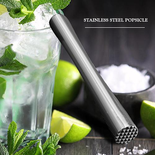 Stainless Steel Wine Mixing Stick Cocktail Shaker Ice Crusher Popsicle Sticks Plastic Cocktail Stick Lemon Hammer Pounded