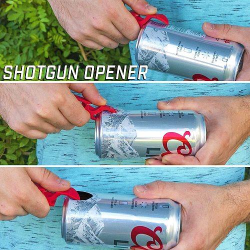 1 Portable Cap Gun Creative Flying Cap Launcher Bottle Beer Opener Bar Tool Drink Opening Bottle Lids Bottle Opener Key Ring