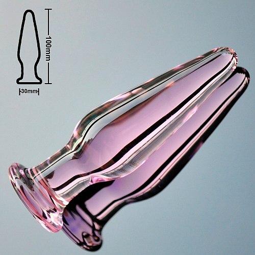 30mm crystal anal dildo pyrex glass bead butt plug fake male penis dick female masturbation adult anus sex toy for women men gay