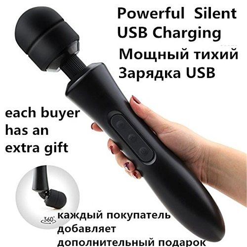 20 Modes Body Massage Powerful Magic Wand Massager AV Wand Vibrator Sex Products USB Rechargeable Vibrators Sex Toys For Women