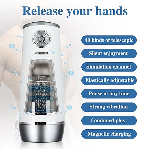 Powerful Automatic High Speed Male Masturbator Strong Suck Sex Machine Penis Massage Size Adjustable Adult Sex Toys for Men