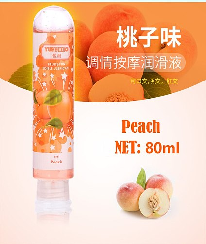 80mL Fruit Flavor Strawberry/Cherry/Apple/Peach/Blueberry/Lemon Lubricant Water Based Anal Oral Gel Sex Lube For Vaginal/Penis