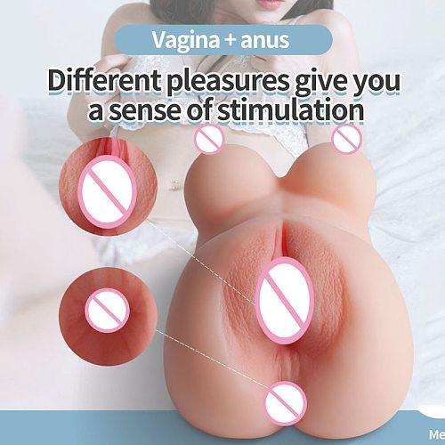 Male Masturbator Realistic Vagina Real Pussy Breast Anal Nipples Ass Masturbator Pocket Pussy Sex Doll Torso Masturbator For Man
