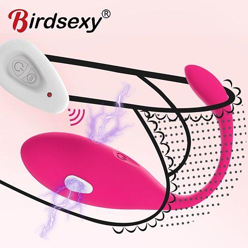 Electric Shock Vibrating Egg Vibrators For Women Wireless G Spot Clitoris Stimulator Sex Toy Massager Vagina Exercise Kegel Ball