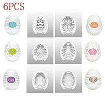 12 PCS 6PCS 12 Type Egg Cup Portable Simulation Human Vaginal Masturbation Device Adult Sex Toys Male Masturbation Device