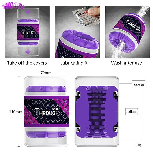 Double Head Male Masturbator Vacuum Cup Pocket Pussy Vagina Sex Toys for Men Penis Adult Supplies Endurance Exercise Sex Product