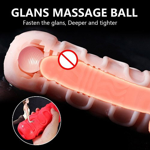 Realistic Sex Toys for Men Pocket Pussy Real Vagina Male Sucking Masturbator Cup Silicone 3D Artificial Vaginal Erotic Adult Toy