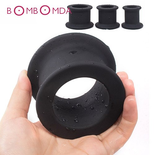 Super Huge Hollow Anal Plug Sex Toys for Men Butt Plug Anal Rings Prostate Massage Silicone Anus Speculum Sex Appliance Dilator