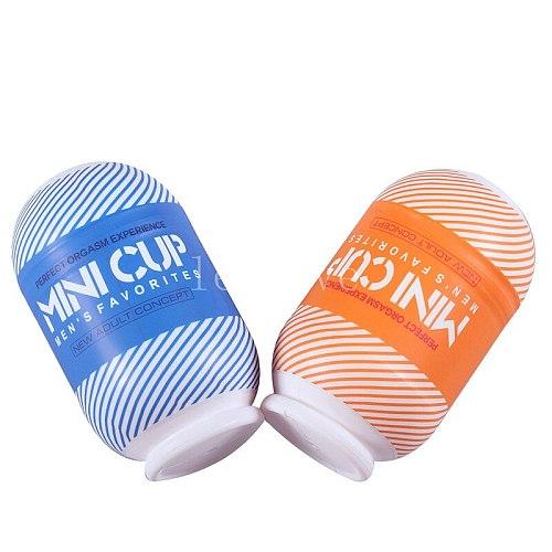 Adult Male Mini Masturbation Cup Vaginal Vibrating Masturbator Sexy Toy Pussy Vagina oral Masturbator Sex Product for man YS0147
