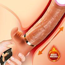 Handheld Thrusting Dildo Vibrator for Women Clit Licking Toy Adult Sex Machine Vaginal Stimulation Tool Female Masturbator