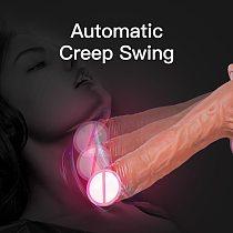 Realistic Dildo Vibrator 10 Speeds Telescopic Swing Vibrating Dildo Female Masturbation Penis Sex Toys For Women Adult Sex Shop