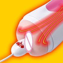 Male Masturbator USB Heater Rapid Heating 46 Degrees Sex Toys For Men 14cm Smart Thermostats Vagina Warmer Adult Abs
