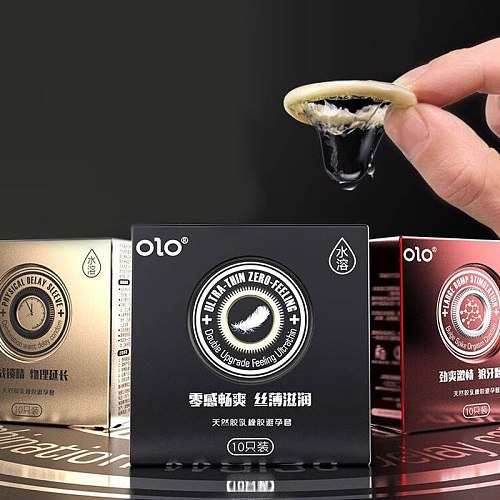 10pcs Invisible Ultra-thin Condoms For Long Sex smooth Thin penis Sleeve delay Ejaculation Dotted Ribbed intimate Condom sex toy
