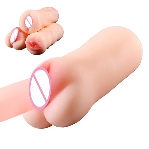 Sex Toys for Men 4D Realistic Deep Throat Male Masturbator Silicone Artificial Vagina Mouth Anal Erotic Oral Sex Masturbator