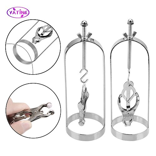 Metal Nipple Clamps Breast Cage Bondage Sex Tools For Couples Women Sex Toys Female Massager Adults Games Clips Set Erotic Shop
