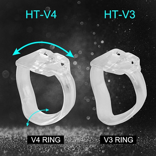 OLO Sex Products Male Chastity Device Cock Cage HT-V4 Set Resin With 4 Penis Rings Sex Toys