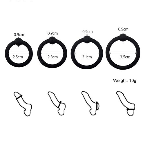 4PCS/Set Sex Toys For Men Penile Erection Rings Ring On Penis For Man Cockring Cock Ring Sex Shop Penis Rings For Dick Silicone