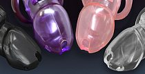 CHASTE BIRD Amazing Price Male Bio-sourced Resin Chastity Device Cock Cage HT V3 Belt With 4 Penis Ring Adult  Lock Sex Toy A380