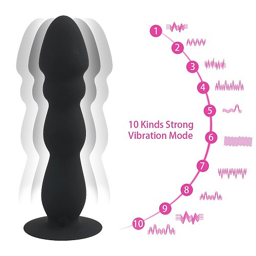 Bead Dildo Vibrator Suction Cup Butt Plug Waterproof Anal Plug Remote Control Male Prostate Massager Vibrator Sex Toys For Men