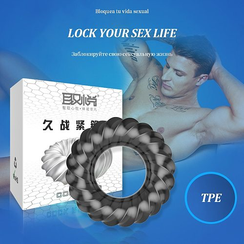 Delay ejaculation Cock ring penis ring dick ring enhance sex staying power soft Elastic sex toys for men penis Adult sex toys