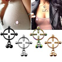 1 Pair 2 Pcs Stainless Steel Round Non Piercing Nipple Ring Shield Body Piercing Jewelry Nipple Clamps Adult Game for Women