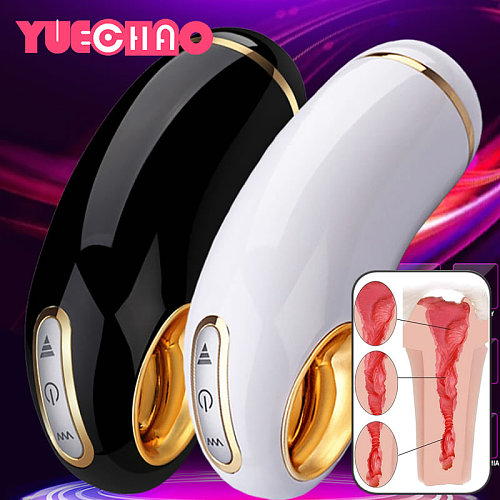 YUECHAO Automatic Male Masturbator Electric Masturbation Cup Vibrating Pocket Erotic Sucking Sex Toys Adults Products For Men