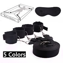 Sex Toys For Woman Men BDSM Bondage Set Under Bed Erotic Restraint Handcuffs & Ankle Cuffs & Eye Mask Adults Games for Couples