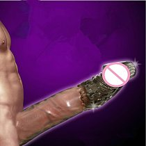 Big Penis Sleeve Reusable Condoms Dick Extension Cock Extender Enlargement Sex Toys For Men Gay Adult