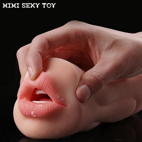 Realistic Vagina Male Masturbator Oral Mouth Aircraft Cup Real Pussy Sexo Intimate Goods Deep Throat Double Hole Sex Toy for Men