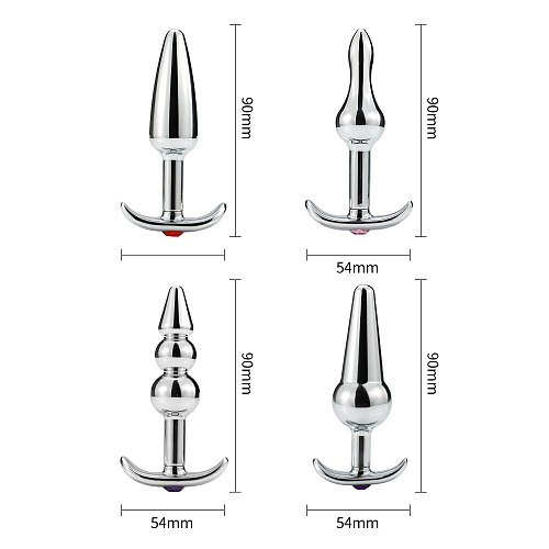 Intimate Anchor Metal Anal Plug With Jewelry Smooth Touch Butt Plug No Vibrator Anal Bead Anus Dilator Anal Toys for Men/Women