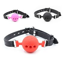 Couple Silicone Gag Ball BDSM Bondage Restraints Open Mouth Breathable Sex Ball Harness Strap Gag Sex Toy for Women Accessories