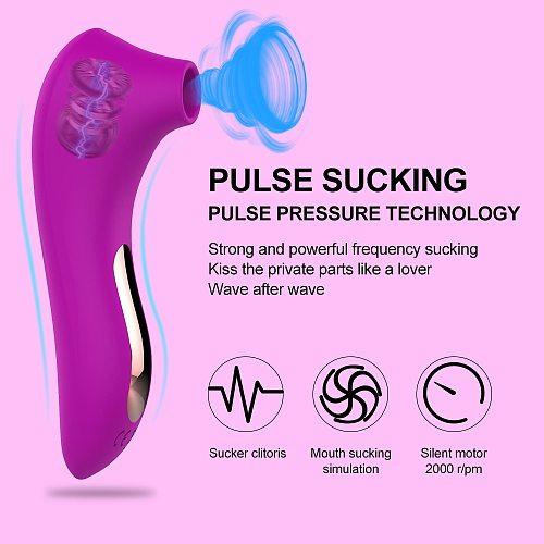 Clitoris Sucker Vibrator Sex Toys for Adult Women Oral Nipple Clitoris Suckion Tongue  Stimulator Blowjob  Masturbator Erotic