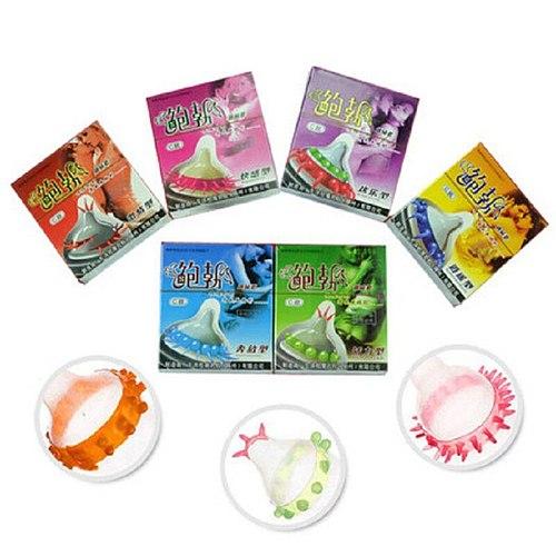 Men Condoms Adult Sex Products Sensation Female G-spot Vaginal Stimulation Condoms Sophora Viciifolia Spike Penis Sleeve