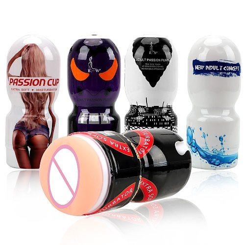 Beer Airplane Cup Masturbation Cup Sex Toys for Men Portable Mini Male Masturbation Artificial Vagina Sex Toys for Men Gay