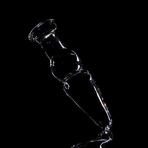 Glass Dildo Artificial Anal Sex Toys Crystal Anal Bead Butt Plug Prostate Massage Masturbate for Men Woman Adult Anal Plug