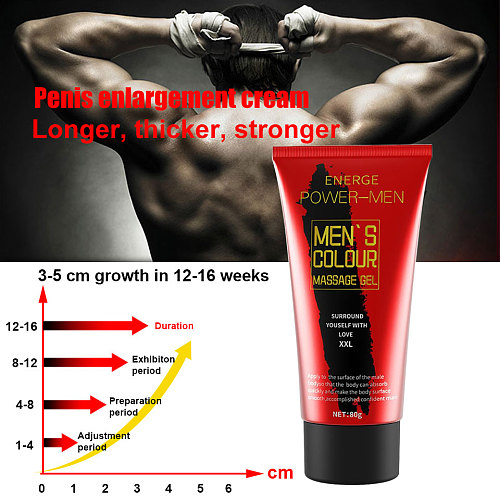 80g Big Penis Enlargement Cream Gel Increase Dick Size Male Cock Delay Erection Cream Health Care Cream for Adult External Use