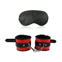Exotic Accessories of Leather Handcuffs Bondage Rope Anklets Blindfold Eye Mask for Men Women Fetish Bdsm Adults Games Sex Toys
