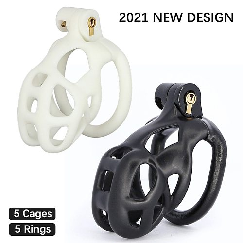 NEWEST 3D Printing Cock Cage Penis Sleeve Plastic lockable Cobra Male Chastity Device Penis Rings Adult Games Sex Toys For Men
