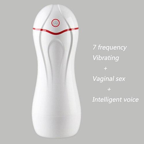 Masturbation Cup Vagina Sex Toys Heating Rod Masturbator Electric Automatic Shaking Sucking Sexy Groans Male Masturbator Pussy