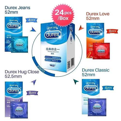 Durex Condoms Sensation Value Ultra Thin Penis Sleeve Natural Latex Lubricated Condom Sex Toys for Couples Intimate Goods