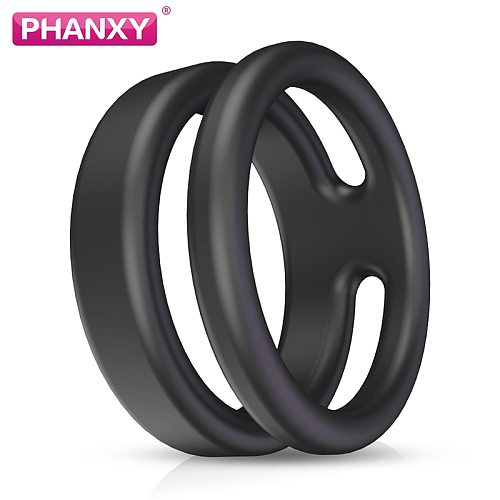 PHANXY 4 Pcs Silicone Penis Rings Wheel Cockring Adult Sex Products Delay Male Masturbation Fun Toys For Men