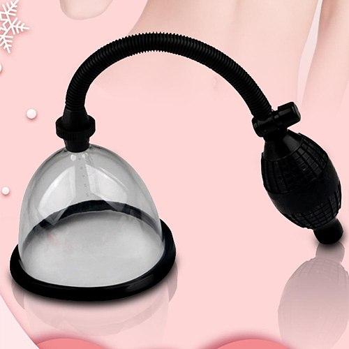 Single Manual Vacuum Pump Breast Suction Enlargement Boob Enhancement Sucker Soft Breast Enlarger Manual sex toys for women