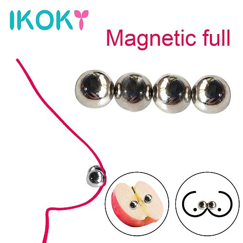 IKOKY 1/2 pair Magnetic Orbs Nipple Clamps Strong Labias Clip Clitoris Stimulator Sex Shop Ultra Powerful Sex Toys For Women