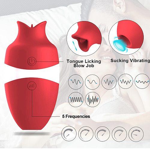 Sucker Vibrator Tongue Vibrating Nipple Sucking Blowjob Oral Clitoris Stimulator Etotic Sex Toys for Women Adult Masturbator