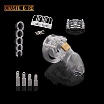 CHASTE BIRD Small/Standard Male Chastity Device Cock Cage With 5 Size Rings Brass Lock Locking Number Tags Sex Toys CB6000 A153
