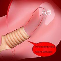 Men Delay Lock Sperm Fine Condom Threaded Enhancer Ring Penis Extender Sleeve Erection Dick Cock Ring Sex Toys For Men Intimate
